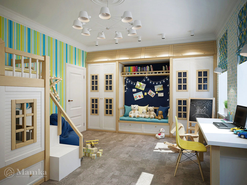 Уютный дизайн детского уголка для мальчика 6