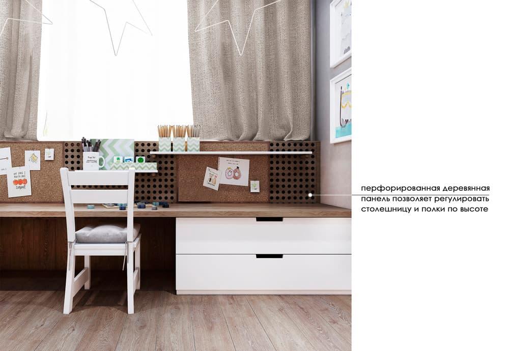 Уютный дизайн детской комнаты с двухъярусной кроватью 4