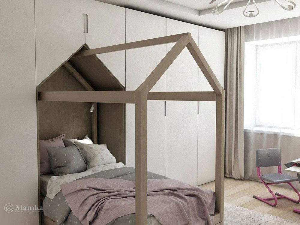Воздушный дизайн детской спальни в пастельных тонах 2