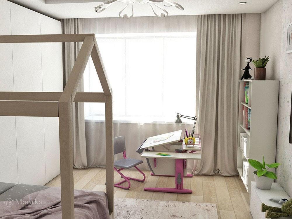 Воздушный дизайн детской спальни в пастельных тонах 5