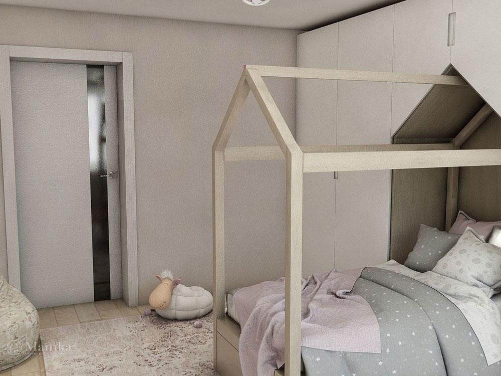 Воздушный дизайн детской спальни в пастельных тонах 6
