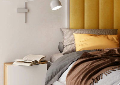 Мебель в ярких цветах в детскую спальню мальчика-школьника — проект 5595