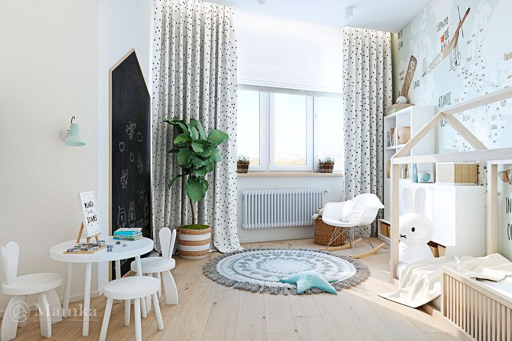 Удобные и очень яркие зоны в детской комнате 2