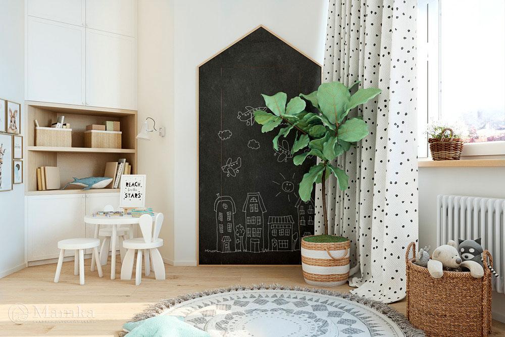 Удобные и очень яркие зоны в детской комнате 4