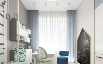 Тропический сад — замечательный дизайн-проект комнаты мальчика в стиле эко-минимализм