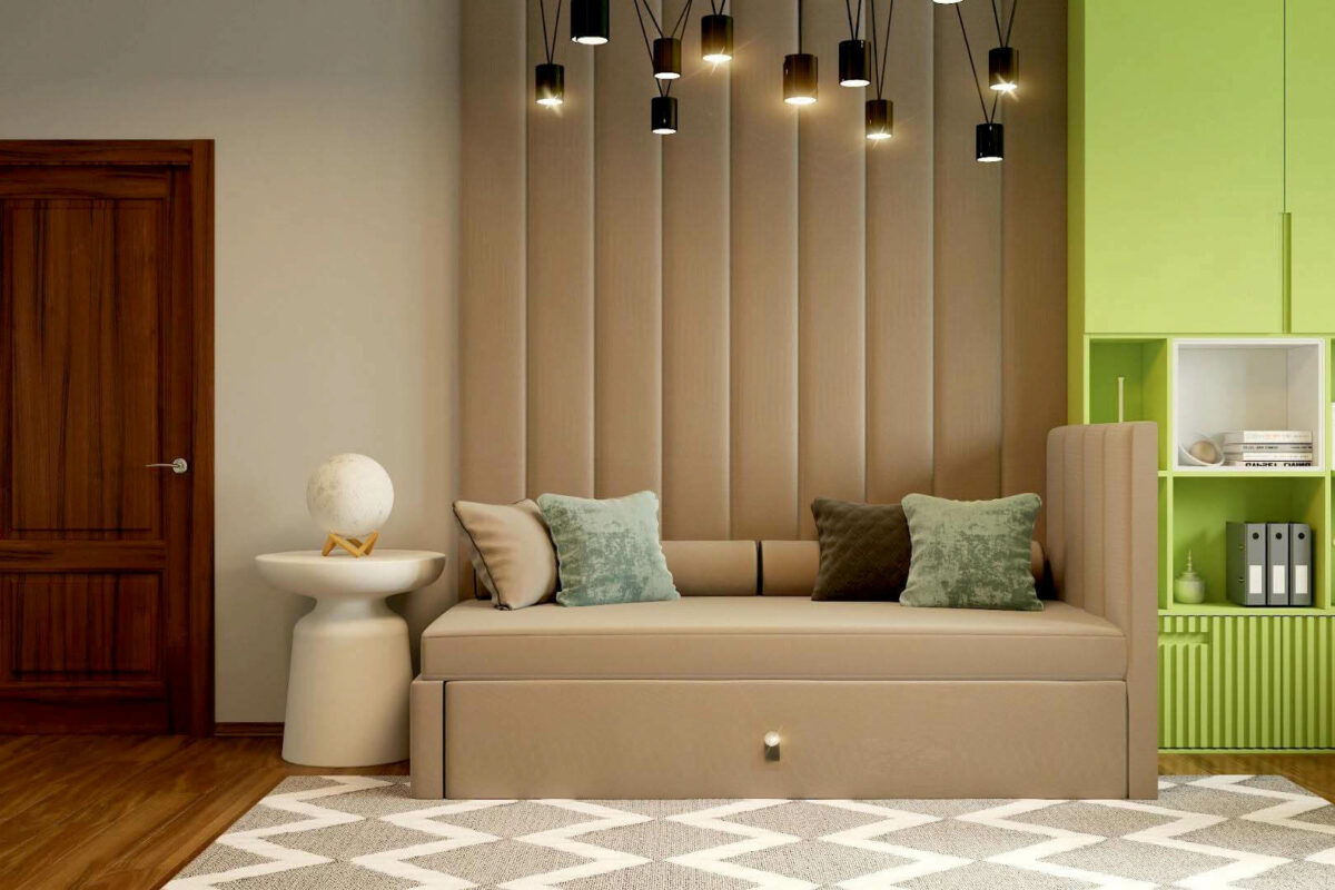 Зеленая мебель в комнату мальчика проект 3913-1
