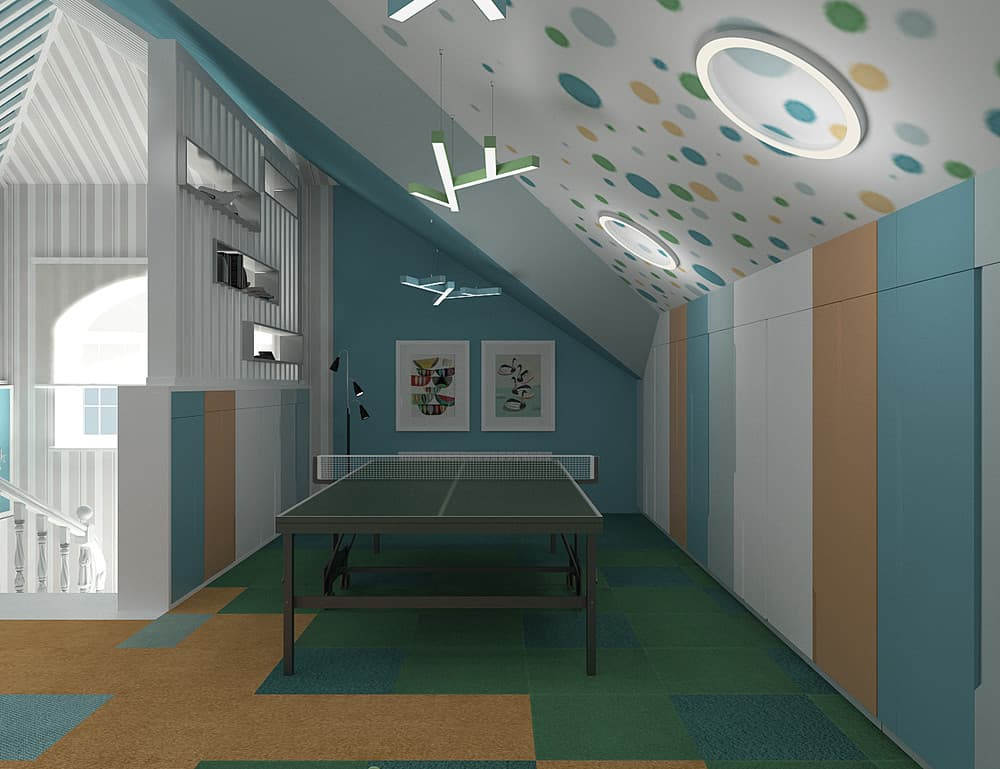 Зоны в детской комнате для отдыха и активного времяпровождения 1
