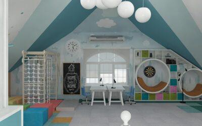 Мансарда как игровая комната — так выглядит настоящий рай для мальчишек