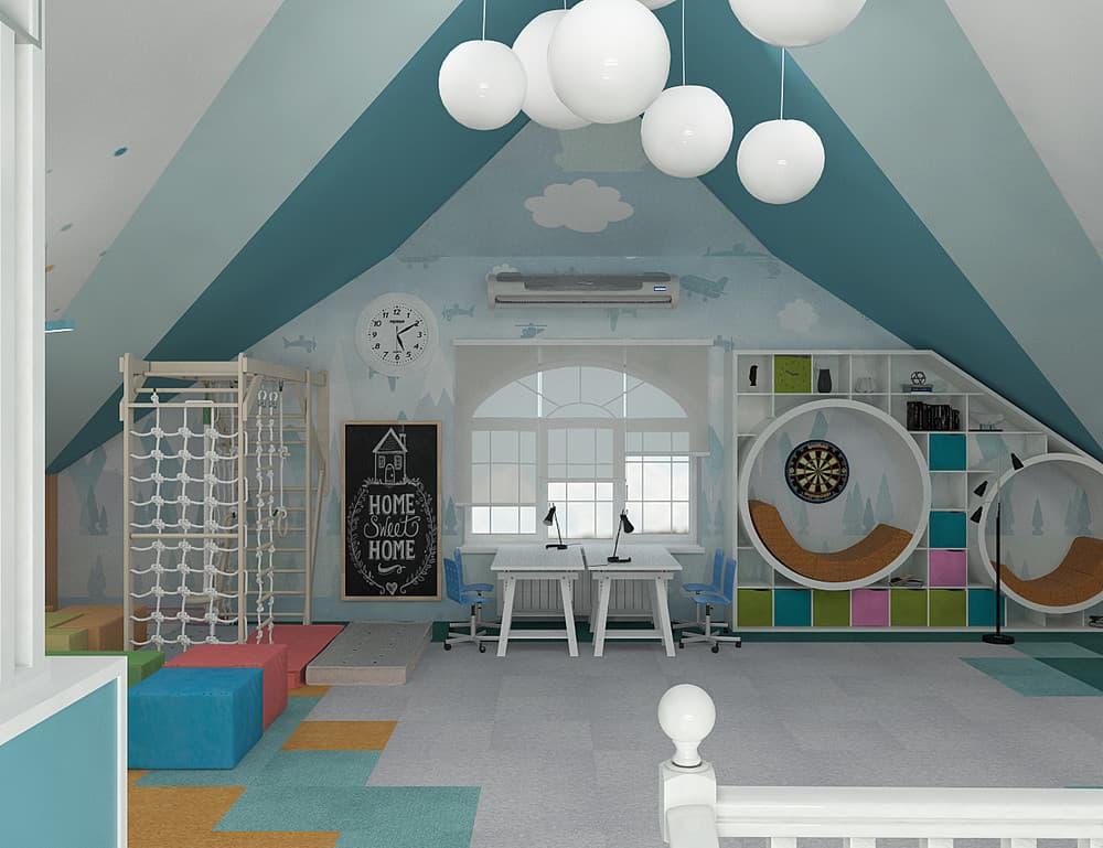 Зоны в детской комнате для отдыха и активного времяпровождения 3