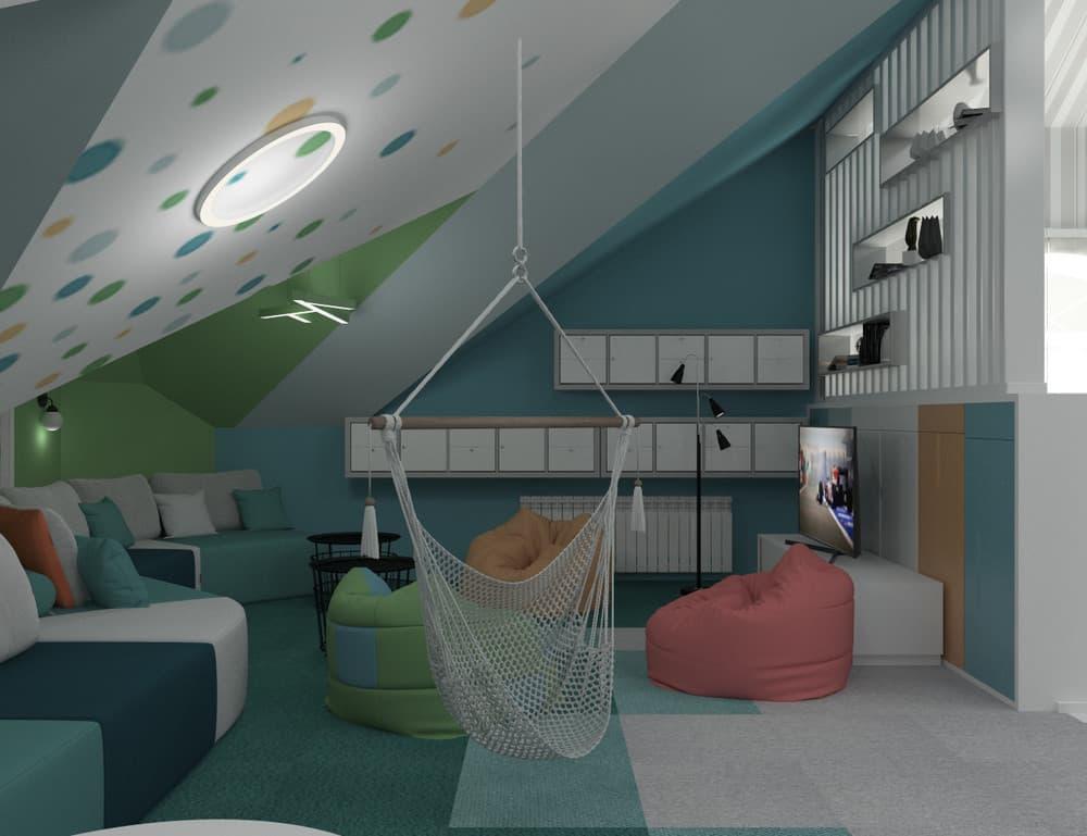 Зоны в детской комнате для отдыха и активного времяпровождения 6